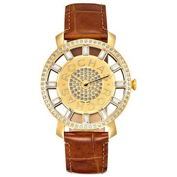 香水が世界的に有名なフランスのファッションブランド ROCHAS(ロシャス)の腕時計 RJ20 ゴールド/ブラウン レディース時計 メンズ時計 ジュエリーウォッチ