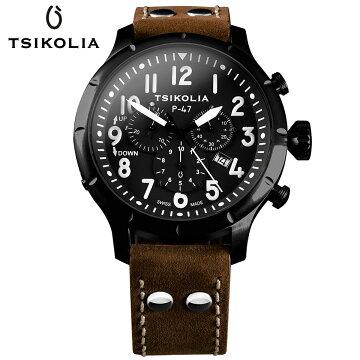 TSIKOLIAP47BLACK/BLACKチコリア腕時計01