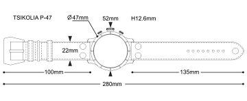 TSIKOLIAP47チコリア腕時計サイズ