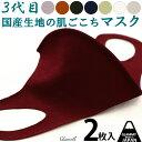 【2枚】 マスク 日本製 洗える 国産 布マスク 秋冬 メン