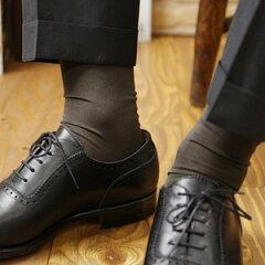 日本の靴下技術の伝統と誇りを語る最高級の紳士靴下 メンズ 海島綿 シーアイランドコットン ソ...