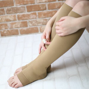 N-platz - Women's Strong Compression Knee high socks  [ Open toe style ]  / Calf: 20 hpa;Ankle: 30 hpa / Gradationd compression / Comfortable fit / Against foot swelling / 3064-304 / Made in Japan / All Items - Point x 10 !!