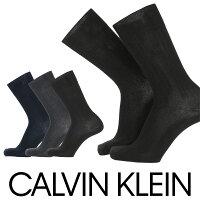 CalvinKlein(カルバンクライン)Dressビジネス消臭加工太リブメンズクルー丈ソックス靴下2562-123男性メンズプレゼント贈答ギフトポイント10倍