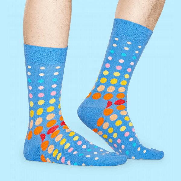 【ポイント20倍】Happy Socks ハッピーソックスFADED DISCO DOT ( フェイディド ディスコ ドット)クルー丈 綿混 ソックス 靴下 ユニセックス メンズ & レディス1A113011母の日 無料ラッピング