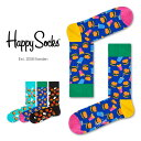 【セール!40%OFF】Happy Socks ハッピーソックスJUNK FOOD HAMBURGER ( ハンバーガー )クルー丈 綿混 ...