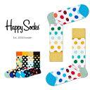 Happy Socks ハッピーソックスBIG DOT ( ビッグ ドット )クルー丈 綿混 ソックス 靴下レディース 女性 婦人【プレゼント 贈答 ギフト】11113005・・・
