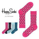 【送料無料+ポイント20倍】Happy Socks ハッピーソックスMINI DIAMOND ( ミニ ダイヤモンド )クルー丈 綿混 ソックス 靴下ユニセックス メンズ & レディス h605048