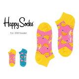 【ポイント20倍】Happy Socks ハッピーソックスBANANA ( バナナ ) スニーカー丈 綿混 ソックス 靴下ユニセックス メンズ & レディス h605342母の日 無料ラッピング