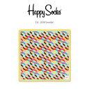 【送料無料+ポイント10倍】Happy Socks ハッピーソックスFILLED OPTIC ( フィルド オプティック )綿100% ハンカチ 50×50cmユニセックス メンズ & レディスプレゼント 贈答 ギフト h608710