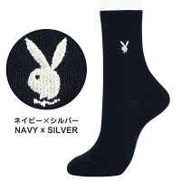 PLAYBOY(プレイボーイ)スクールソックスワンポイント刺繍18cm丈レディスクルーソックス靴下3737-351ポイント10倍