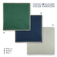 TOMMYHILFIGER|トミーヒルフィガーモノグラム柄綿100%ハンカチ2582-107