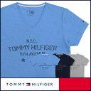 【郵送160円】セール!50%OFFTOMMY HILFIGER|トミーヒルフィガーVネック 半袖 N.Y.C. Tシャツ綿100% トミーロゴプリント5335-3906男性 メンズ プレゼント ギフト 誕生日ポイント10倍