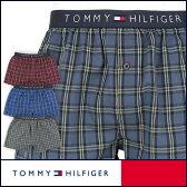セール!50%OFFTOMMY HILFIGER トミーヒルフィガー Flag Woven Boxer Check コットン チェック トランクス 5335-5240男性 下着 メンズ プレゼント 誕生日 ギフト 彼氏ポイント10倍