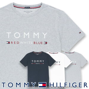 TOMMY HILFIGER|トミーヒルフィガー【COTTON ICON】 CN TEE SS LOGO FLAGコットン100% ロゴ 半袖 Tシャツ男性 メンズ プレゼント 贈答 ギフト5339-1167ポイント10倍