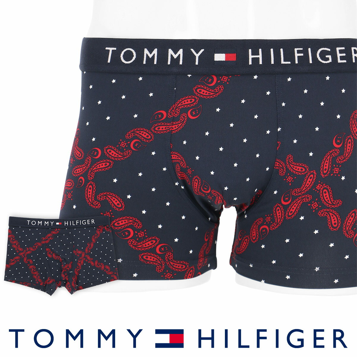 TOMMY HILFIGER FASHON UNDERWEAR MICRO&TENCEL PAISLEY CHECK 5339-1492