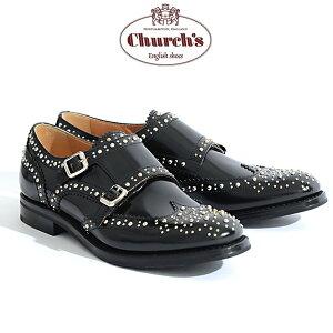 【jg】チャーチChurch'sレディースショートブーツサイドゴア《MonmouthBlackPolishedBinder》カーフレザーブラックサイズ36/36.5/37/37.5/38/38.5ベーシックでモードなデザイン上質レザー使用革靴【即日発送】