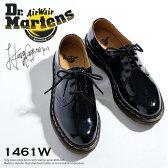 ドクターマーチン レディース 3ホールシューズ 1461Wパテント Dr.MARTENS 3EYE SHOES 1461W PATENTおじ靴 レースアップシューズ ブラック Black 10084001 レディース シューズ 靴【送料無料】【コンビニ受取対応商品】