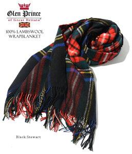 【jg】【即/予】GlenPrinceグレンプリンスストールマフラー大判ウールチェック無地フリンジ《lambswoolwrap》高級感漂う滑らか&ソフトな肌触り肩から羽織って暖かいラムウール(羊毛)ブランケットショール