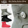 アグ ugg ムートンブーツ ベイリーボタン ブリング ムートンブーツ クリスタル ボタン Mini Bailey Button Bling 厚みのあるボアが暖かい ムートンブーツ 革靴 【送料無料】【コンビニ受取対応商品】