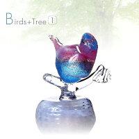 手作りガラス細工の置物鳥のオブジェ(1羽)