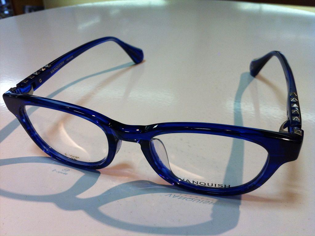 VANQUISH(ヴァンキッシュ)メガネフレーム(セルフレーム)有名ブランドメガネフレームVQ-5038 4(ブルー) 49サイズ