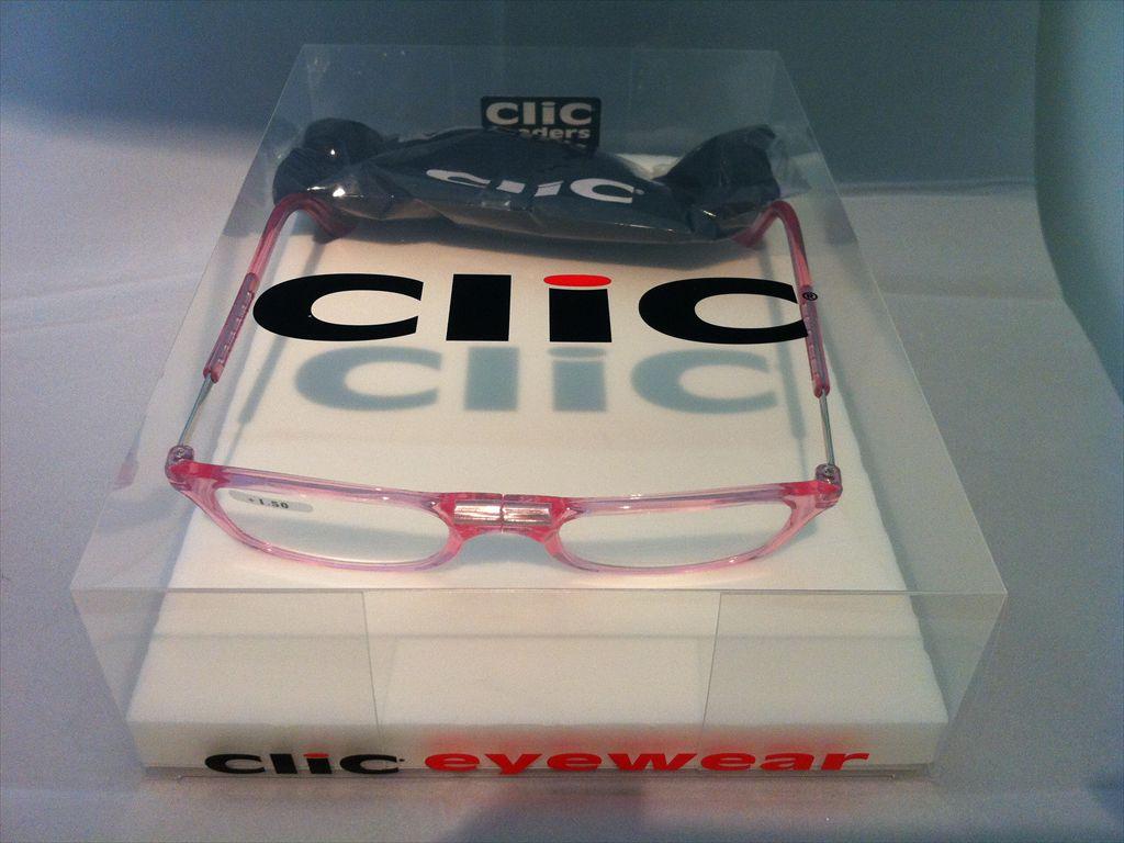 Clic readers(クリックリーダー)リーディンググラス(老眼鏡)既製老眼鏡(セルフレーム)S+1.50D(ピンク)