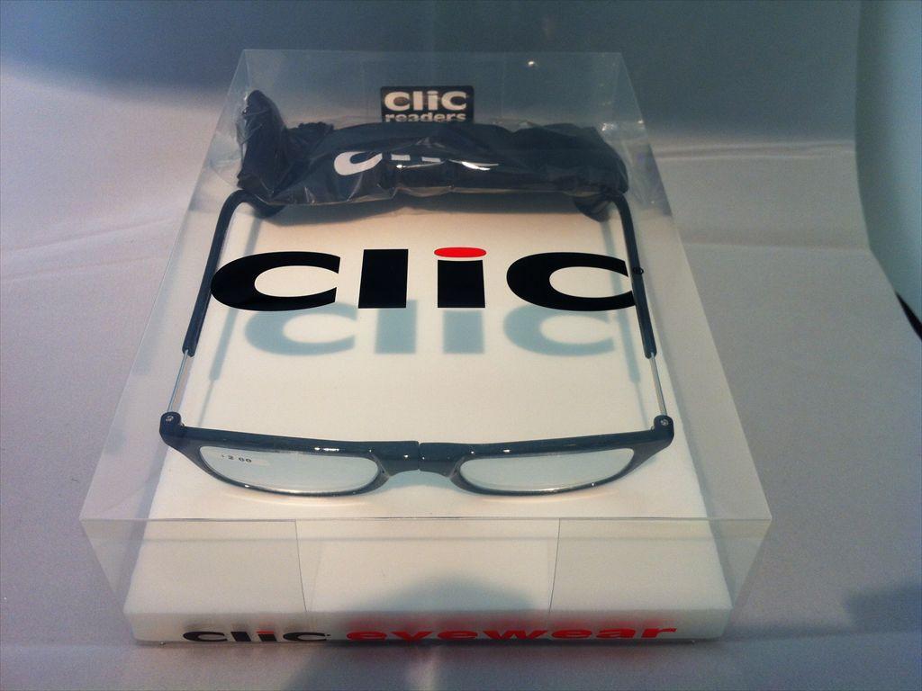 Clic readers(クリックリーダー)リーディンググラス(老眼鏡)既製老眼鏡(セルフレーム)S+2.00D(ブラック)