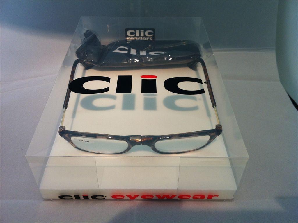 Clic readers(クリックリーダー)リーディンググラス(老眼鏡)既製老眼鏡(セルフレーム)S+2.50D(ブラウン)
