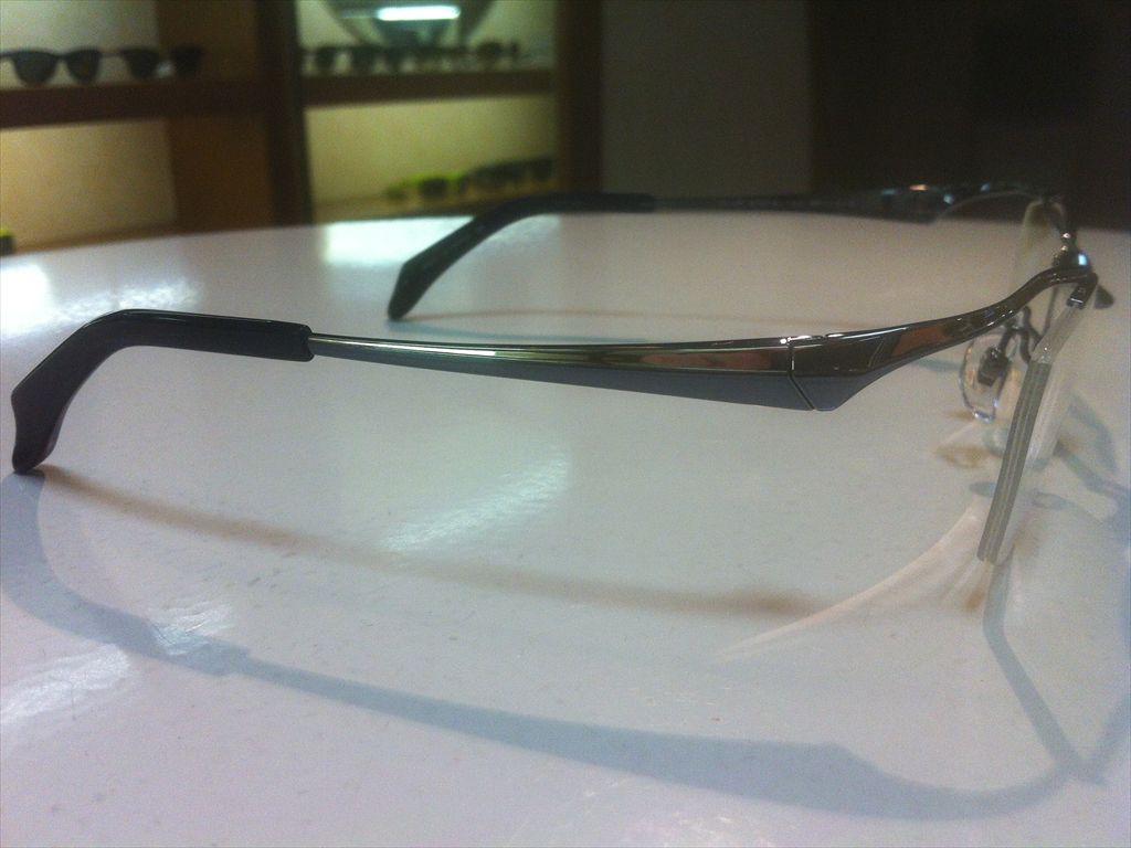 Masaki Matsushima(マサキマツシマ)MF-1213 3(ブルーグレー/シルバー)57サイズメガネフレーム(ナイロールフレーム)高品質日本製メガネフレーム有名ブランドメガネフレーム