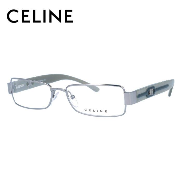 【伊達・度付きレンズ無料】 セリーヌ メガネ フレーム 眼鏡 VC1407M 53サイズ 0S57 度付きメガネ 伊達メガネ ブルーライト 遠近両用 老眼鏡 レディース スクエア 新品 【CELINE】 【送料無料】