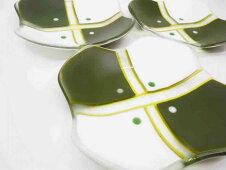 緑白彩銘々皿