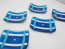 青彩長方小皿