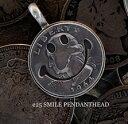 ビンテージコインをスマイリーに仕上げた遊び心溢れるペンダント【送料無料】【NORTH cafe & craft(ノースカフェ&クラフト)】 vintage coin works 25セント スマイル ペンダントヘッド