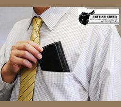 ブライドルレザー胸ポケット財布