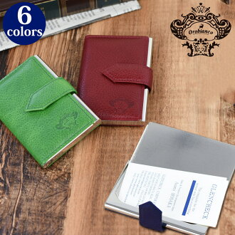 Orobianco Aluminum Plate X Leather Card Case [Gift _ Packing Choice]