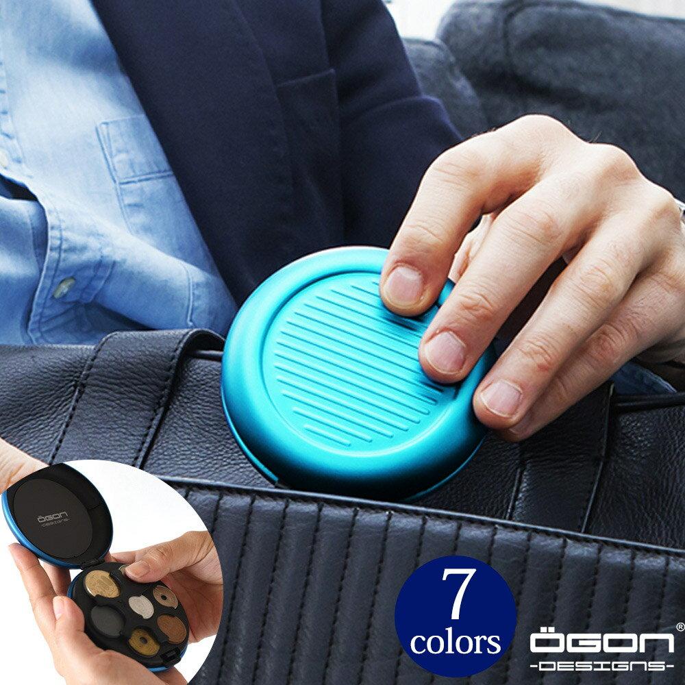 OGON アルミラウンドコインケース/日本円[OGON/オゴン][小銭入れ 硬貨 コインディスペンサー コインホルダー 小銭 収納] [送料無料]