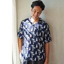 [ウチノxJALショッピング] クレープガーゼ メンズシャツ リゾート 夏 サマー 旅行[送料無料] 3