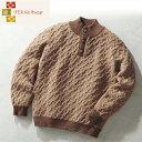 アルパカヘンリーネックセーター[ニット カジュアル メンズファッション...