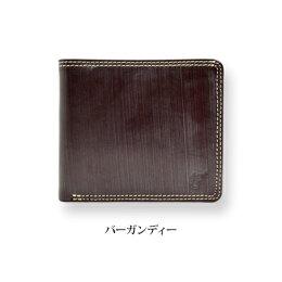 ブライドルレザーダブルステッチ二つ折り財布