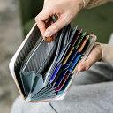 大容量で使いやすい長財布「キオッチョラ エンボスレザー ラウンドファスナー長財布」