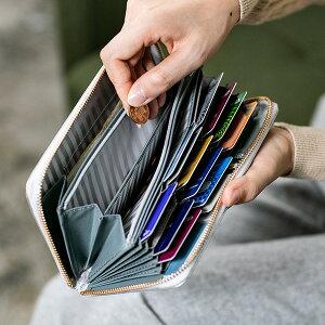 デザイン性だけでなく、機能性や収納力も抜群「キオッチョラ エンボスレザー ラウンドファスナー長財布」