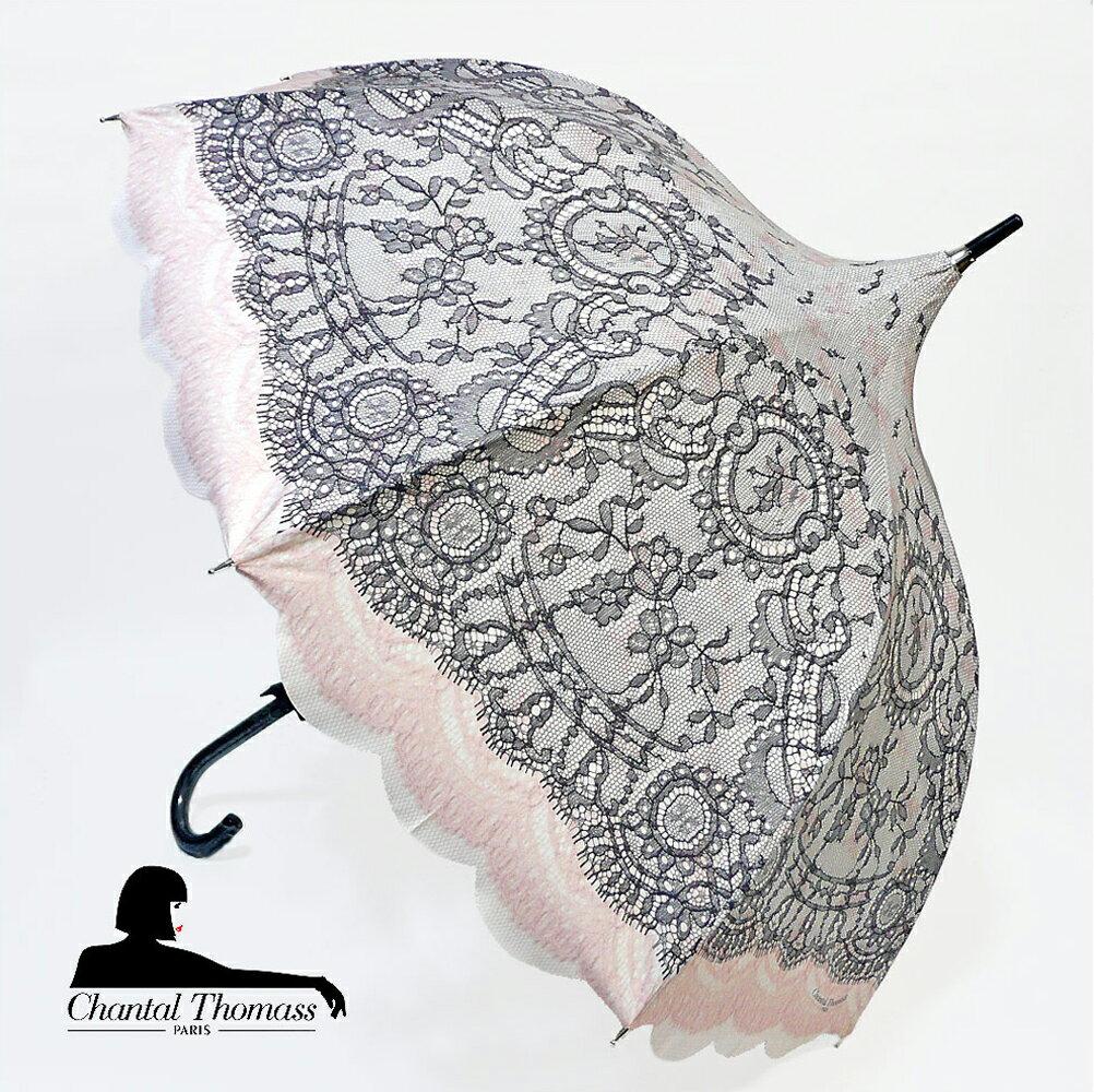 傘, レディース雨傘 Chantal Thomass Pagode Noir CT772