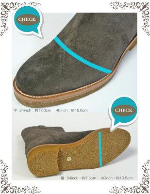 FABIORUSCONIファビオルスコーニベロアレザーウェスタンショートブーツ2242レディースシューズ靴革ブーツラバーソール22.5cm23cm23.5cm24cm24.5cm