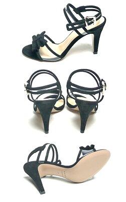 ファビオルスコーニFABIORUSCONIスエードリボンピンヒールクリアサンダルBELLOTTIヒール9cmレディースシューズ靴ストラップレザー歩きやすいオープントゥパーティー22.5cm23cm23.5cm黒ブラック彼女妻女性人気レディースシューズ夏コーデ靴
