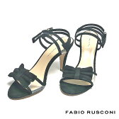 FABIO RUSCONI ファビオ ルスコーニ fabio rusconiスエード リボン ストラップ サンダル BELLOTTIレディース シューズ 靴 イタリア 革 レザー ヒール オープントゥ パーティー  ホワイトデー 彼女 妻 女性 人気