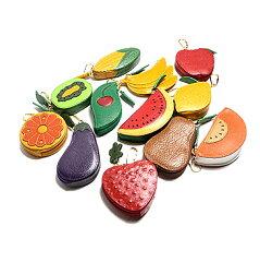 かわいい野菜や果物の形のコインパース キーホルダー付きコインパース フルーツ・ベジタブル...