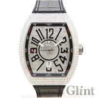 FRANCKMULLER(フランクミュラー)ヴァンガードアフターダイヤモンドモデル(Ref.V45SCDT)〔ブラック文字盤〕〔腕時計〕〔新品〕〔メンズ〕