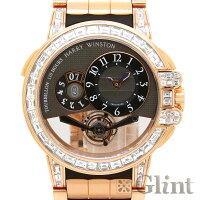 ハリーウィンストンオーシャントゥールビヨンビッグデイトバゲットダイヤモンド世界限定25本OCEMTD45RR002〔腕時計〕〔メンズ〕