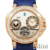 ハリーウィンストン【HARRYWINSTON】オーシャンGMTワールドタイムトゥールビヨンバゲットダイヤモンド世界限定10本仕様400/MATTZ45R〔腕時計〕〔メンズ〕【中古】