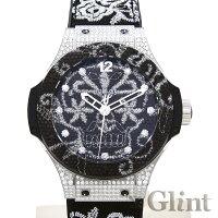 ウブロ(HUBLOT)ビッグバンブロイダリースチールダイヤモンド343.SX.6570.NR.0804〔腕時計〕〔メンズ〕〔世界限定200本〕【中古】